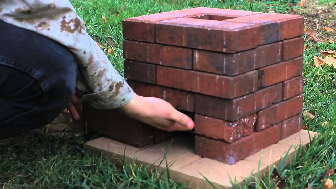 diy brick rocket stove youtube