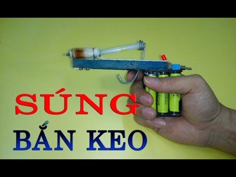 Hướng dẫn làm súng bắn keo nến sử dụng pin