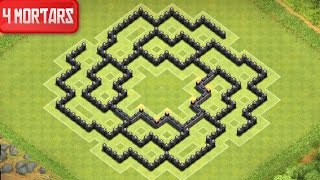 Clash Of Clans Town Hall 8 Farming Base (Polis) 4 Mortar