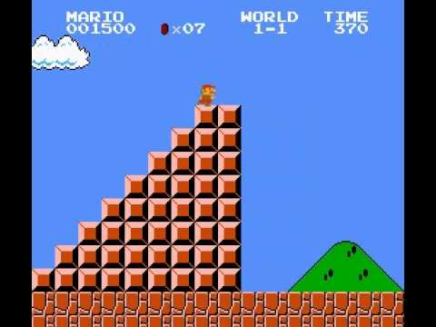 Super Mario Bros - Super Mario Bros Level 1 speed run better version(advanced) - User video