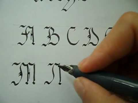 Gothic Calligraphy Capitals Tutorial Youtube