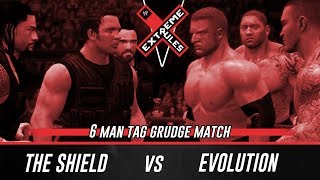 WWE 2K14 Extreme Rules 2014 The Shield Vs Evolution (6 Man