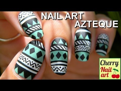 NAIL ART azteque facile, it s very nice..