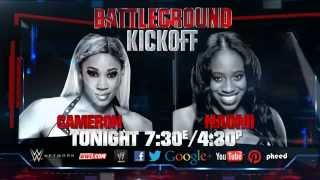 Don't miss WWE Battleground Kickoff - Tonight