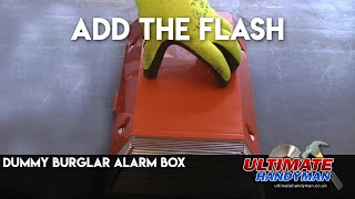 Dummy burglar alarm flashing box