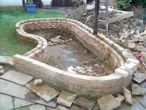 How to build a garden fish pond youtube Making a pond