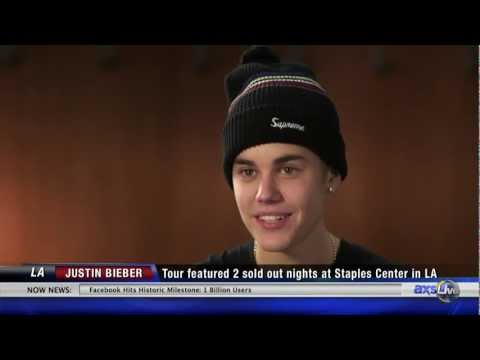 Justin Bieber Backstage Interview with AXS TV - Video