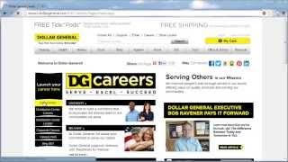 Dollar General Application Online Video