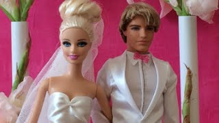 Barbie Wedding Day With Ken Wedding Dress