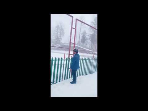 funny dance  tik tok on snow falls maree hills  by RB