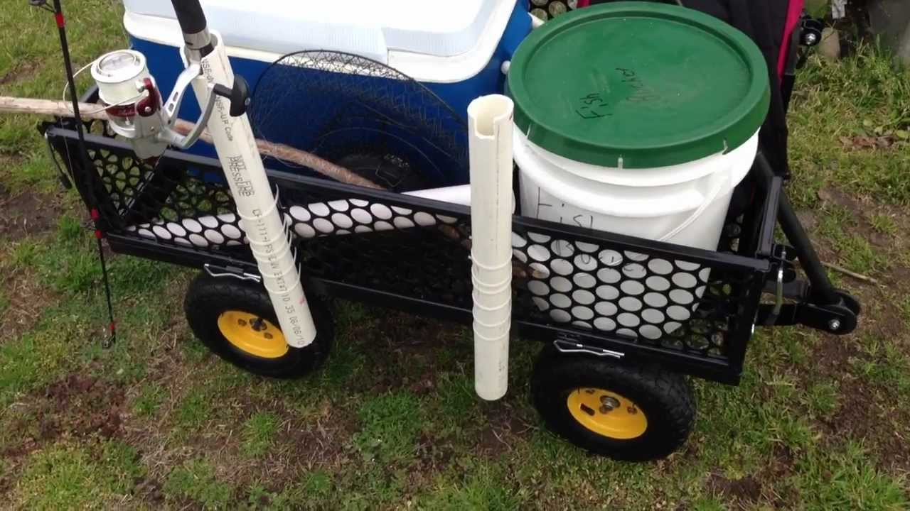 homemade fishing cart youtube