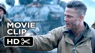 Fury Official Movie Clip I Can't Do It (2014) Brad