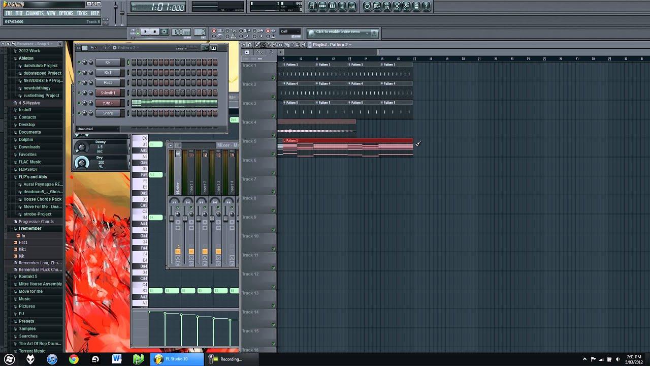 HOW TO - Deadmau5 - I Remember - FL Studio 10 - Tutorial - YouTube