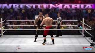 WWE Wrestlemania 30 Brock Lesnar Breaks THE UNDERTAKER'S
