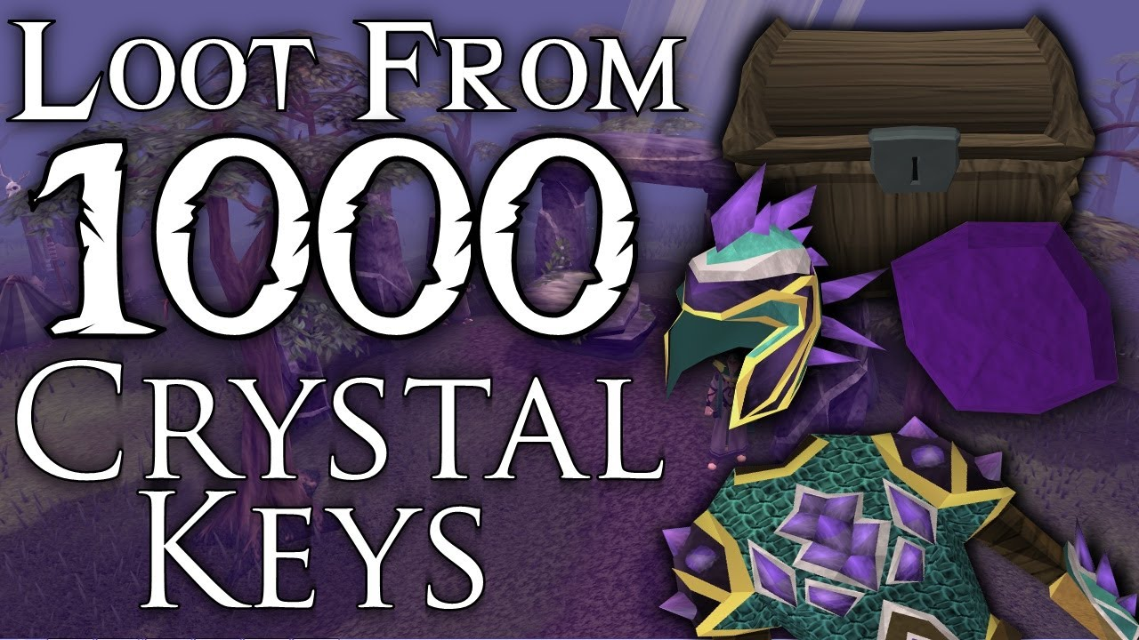 Runescape 3 loot from 1000 crystal keys youtube for Runescape xp table 1 99