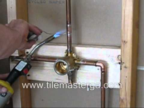 Shower valve replacement brass rough in installation - Delta bathroom sink faucet installation ...