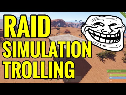 RUST: RAID SIMULATION TROLLING MAKING PLAYERS RAGE(Funny Moments)
