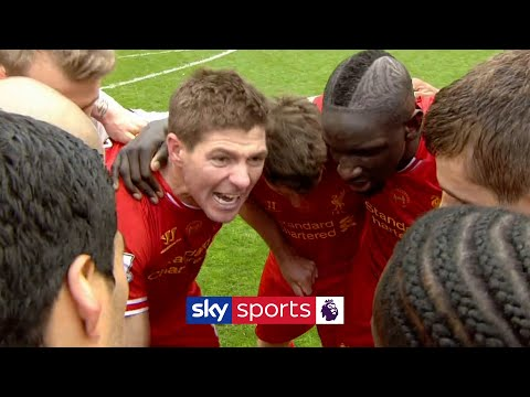 Steven Gerrard leads Liverpool's Post-Match Huddle