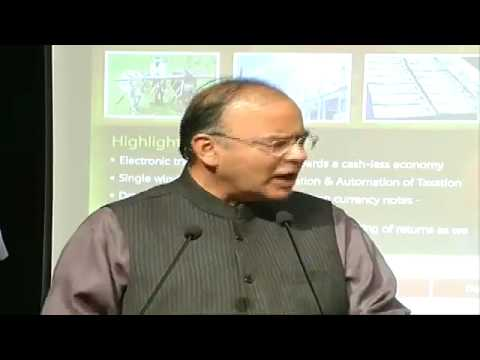BJP Person Arun Jaitley,Simplification of TAX System @ FICCI Auditorium with Chartered Accountants