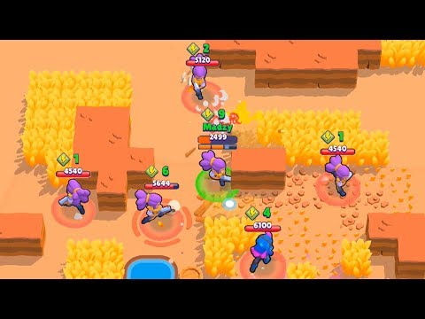 QUINTUPLE KILLING SHELLYS BY SHELLY! UNIQUE 5-TIMES MOMENT! Brawl Stars Funny Moments & Fails #2