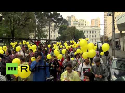 Brazil: Curitiba students march against World Cup, privatisation