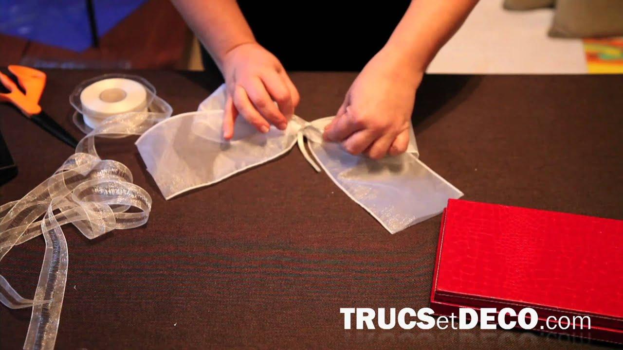 Comment faire un noeud en ruban ou tissu tutoriel par - Comment decorer une corbeille de mariage ...