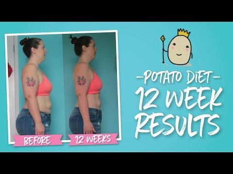 Potato Diet 12 Week Results     Weight, Measurement &  Photos