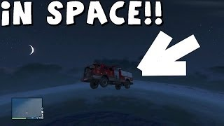 GTA 5 Dropping A Fire Truck From Space! Gate Glitch In