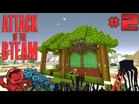 Minecraft Modded Survival - Oasis Base - Attack of the B-team Ep 2