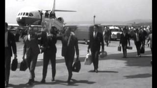 Festa da conquista da Taça das Taças na chegada a Lisboa em 1963/1964