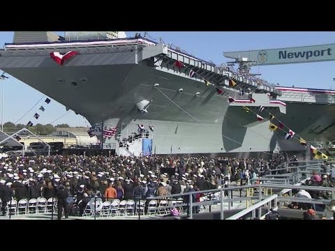 USS Gerald R. Ford christening opening ceremony
