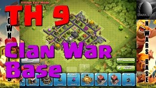Clash Of Clans: Town Hall 9 Clan Wars Base