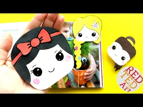 Easy Snow White Bookmark Corner DIY - Disney Princesses Crafts - Kawaii Corner Bookmarks