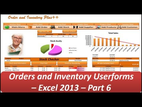 Excel VBA - Orders and Inventory Management - Excel 2013 Userforms