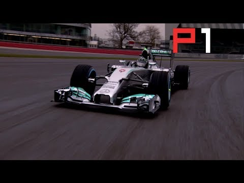 Mercedes F1 W05 close up + TRACK FOOTAGE with Nico Rosberg