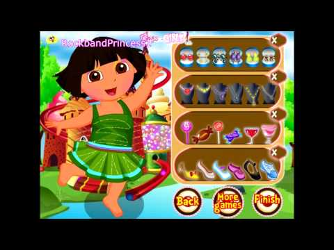Dora The Explorer - Dora's Candy Land Dress Up Game - Dora Games