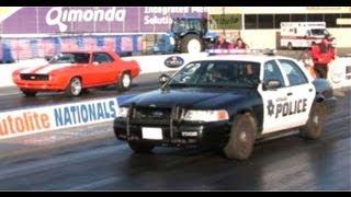 NHRA Drag Racing Parte 12 Carros De Policia Vs Carros