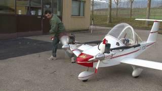 Cricri airplane in flight HD