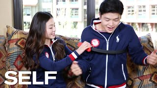 The Shibsibs, Gus Kenworthy, and Other Winter Olympians Try Out Weird Exercise Equipment | SELF