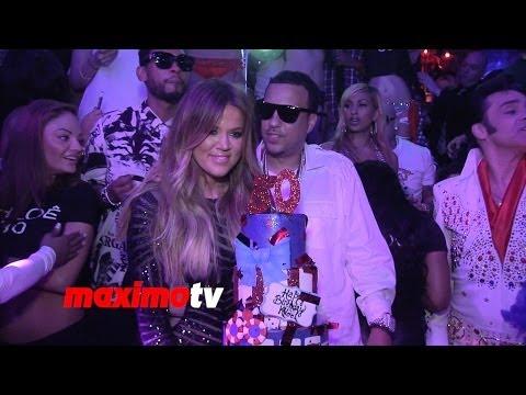 Khloe Kardashian Celebrates Her 30th Birthday at TAO LV With French Montana