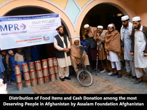 Distribution of Cash and Food Items Among Blinds and other Deserving People in Afghanistan