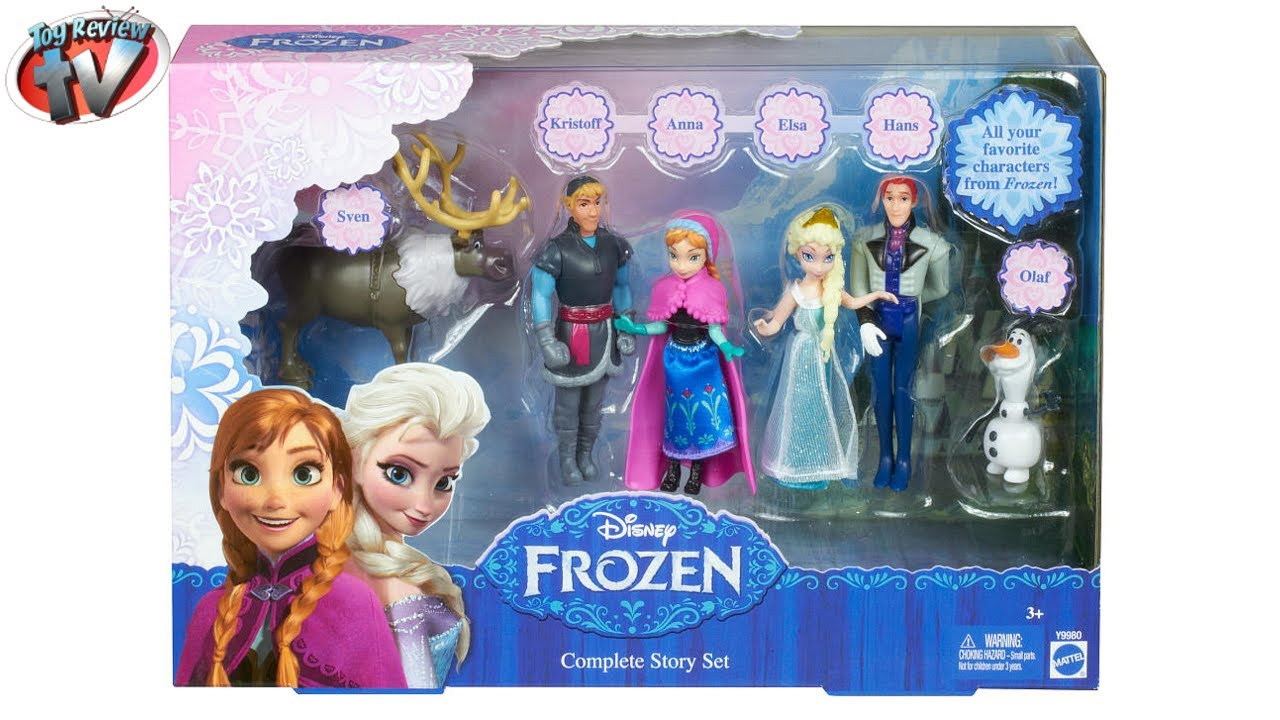 Disney Frozen Complete Story Dolls Gift Set Toys With Anna