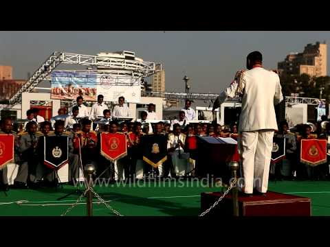 Indian police band playing popular western music 'Lapolama'