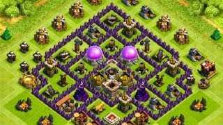 Clash Of Clans EPIC TOWN HALL 7 Farming Base !