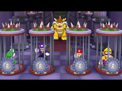 Mario Party 5 - 4 Player Minigames - Yoshi Waluigi Mario Wario All Lucky Funny Mini Games