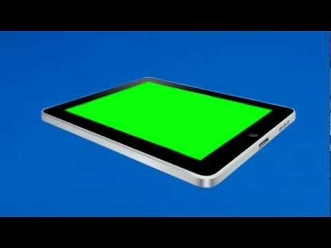 Three Green Screen iPads (1080p HD)