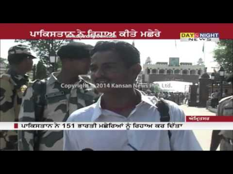 151 Indian fishermen prisoners handed over by Pakistan at Wagah border