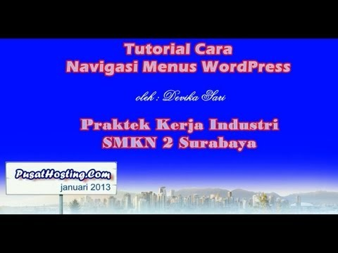 Menu Navigasi - Tutorial Wordpress by Pusat Hosting