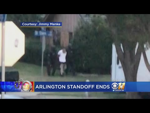 Arlington Police Standoff Ends With An Arrest
