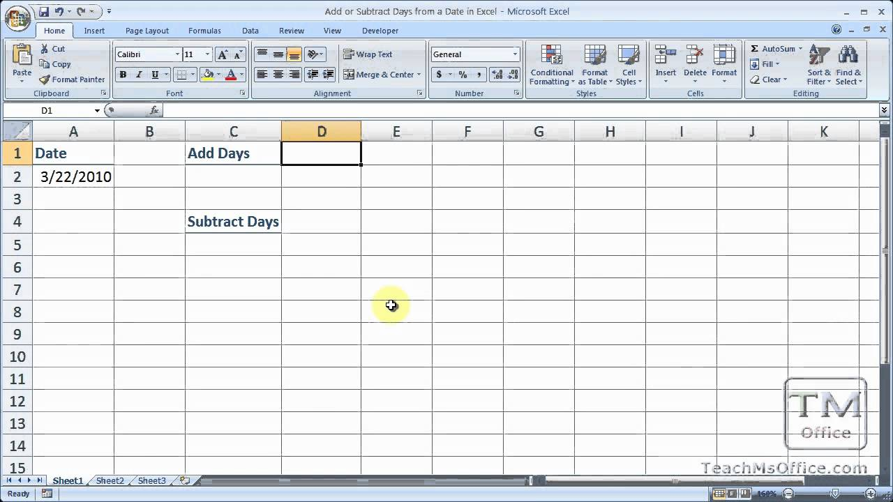 Add Or Subtract Dates Excel | Review Ebooks